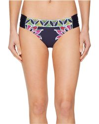 Trina Turk - Lotus Batik Reversible Shirred Side Hipster (midnight) Women's Swimwear - Lyst