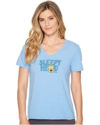 Life Is Good. - Sleepy Head Sleep Vee (powder Blue) Women's Pajama - Lyst