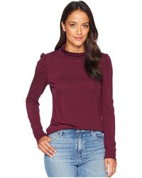 Vince Camuto - Long Sleeve Turtleneck Knit Jersey Top (cabernet) Women's Clothing - Lyst