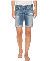 AG Jeans - Nikki Shorts In 16 Years Indigo Deluge Destructed (16 Years Indigo Deluge Destructed) Women's Shorts - Lyst
