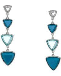 Guess Resin Stone Linear Earrings - Blue