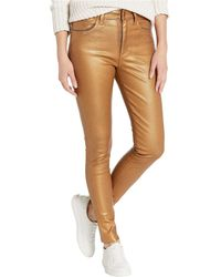 Joe's Jeans - Charlie Ankle Coated In Gold Metallic - Lyst