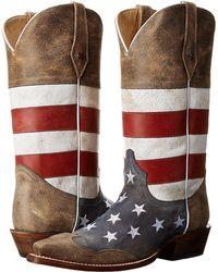 Roper - American Flag Snip Toe (brown) Cowboy Boots - Lyst