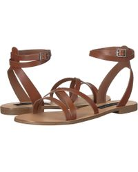 Steven by Steve Madden - Matas (brown Leather) Women's Sandals - Lyst