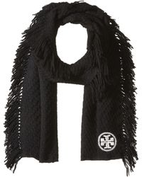 Tory Burch - Textured Jacquard Oblong Scarf With Fringe - Lyst