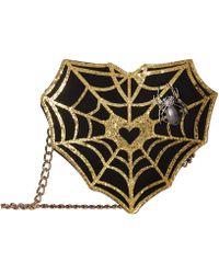Betsey Johnson - Web Surfer Web Crossbody (gold) Cross Body Handbags - Lyst