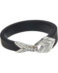 John Hardy - Modern Chain Station Bracelet In Leather (silver) Bracelet - Lyst
