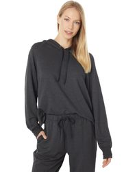 Majestic Filatures French Terry Long Sleeve Hoodie - Black