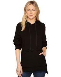 Blank NYC Hooded Sweatshirt In Dark And Stormy - Black