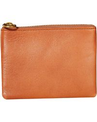 Madewell Leather Pouch Wallet - Brown