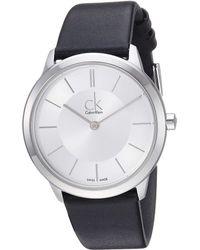 CALVIN KLEIN 205W39NYC - Minimal Watch - K3m221c6 - Lyst