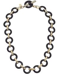 Lauren by Ralph Lauren 17 Link Collar Necklace - Black