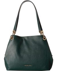 03384375d13cf MICHAEL Michael Kors - Raven Large Shoulder Tote (racing Green) Tote  Handbags - Lyst