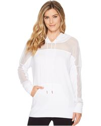 Onzie - Mesh Long Sleeve Hoodie (white) Women's Workout - Lyst