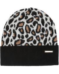 MICHAEL Michael Kors Leopard Pattern Knit Beanie - Multicolor
