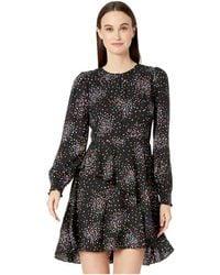 Kate Spade Confetti Cheer Smocked Dress - Black