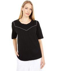 Mod-o-doc New Slub Jersey 1/2 Sleeve Femme Top - Black