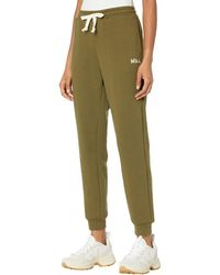 Madewell Mwl Easygoing Sweatpants: Flower Embroidered Edition - Green