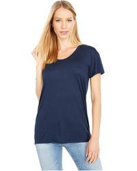 Alternative Apparel Kimber Slinky Jersey Short Sleeve Tee - Blue