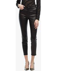 Rag & Bone Nina Leather High-rise Pants - Black