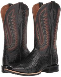 Ariat - Double Down (black Caiman Belly/black) Cowboy Boots - Lyst
