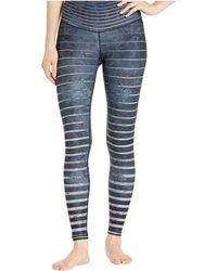 NIYAMA SOL Stripe Stone Leggings - Metallic