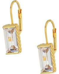 Cole Haan - Cubic Zirconia Lever Back Earrings (gold/clear Cubic Zirconia) Earring - Lyst