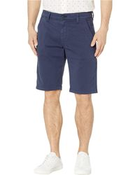 Mavi - Jacob Shorts In Dark Navy Sateen Twill - Lyst