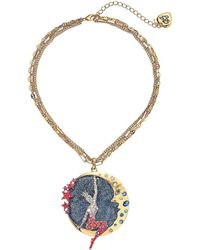 Betsey Johnson - Moon Showgirl Round Pendant Necklace (pink) Necklace - Lyst