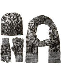 Woolrich - Beanie Scarf Gloves Set (tan) Beanies - Lyst