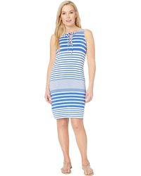 541e984bf7 Tommy Bahama - Beach Glass Stripe Short Dress Cover-up (beach Glass Blue)
