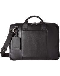 Briggs & Riley @work Leather Medium Brief - Black