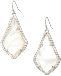 Kendra Scott - Alex Earring (rhodium/rose Quartz) Earring - Lyst
