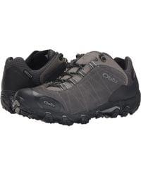Obōz - Bridger Low Bdry (dark Shadow) Men's Shoes - Lyst