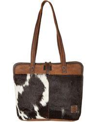 STS Ranchwear Cowhide Laptop Shopper - Brown