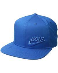 41ea3492727 Nike - Aerobill Pro Novelty Golf Hat (blue) Caps - Lyst