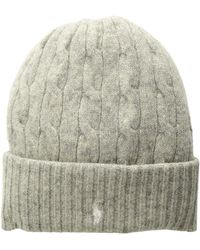 Polo Ralph Lauren - Wool Cashmere Classic Cable Cuff Hat (light Vintage  Heather) Beanies 93e174ca7b8