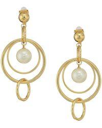 Lauren by Ralph Lauren - Pearl Update Orbital Linear Clip Earrings - Lyst