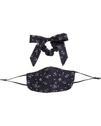 Free People Mask Bow Floral Pack - Black