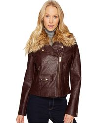 5f085d90077f Marc New York - Beverly 20 Faux Bubble Leather Jacket (burgundy) Women s  Coat -