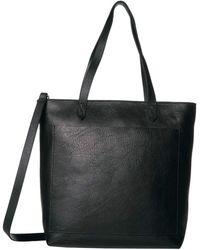 Madewell The Medium Transport Tote W/ Inset Zipper Handbags - Black