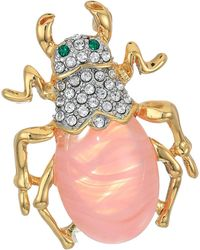 Kenneth Jay Lane Beetle Pin - Red