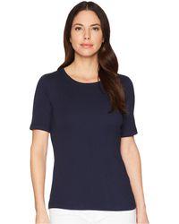 Three Dots - 9 Sleeve Crew (night Iris) Women's Short Sleeve Pullover - Lyst