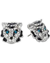 Betsey Johnson - Tiger Stud Earrings (crystal) Earring - Lyst