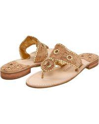 Jack Rogers - Napa Valley (cork/gold Stitching) Women's Sandals - Lyst