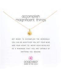 Dogeared - Accomplish Magnificent Things Necklace 16 - Lyst