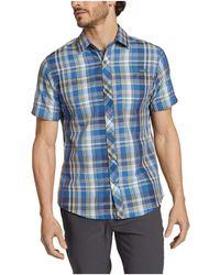 Eddie Bauer Greenpoint Short Sleeve Shirt - Blue