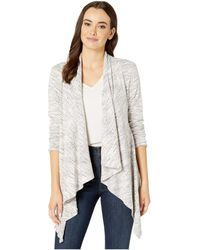 B Collection By Bobeau Amie Waterfall Cardigan - White
