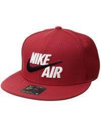 08d7b3d7b Lyst - Nike Air Hybrid True - Red Hat in Gray for Men