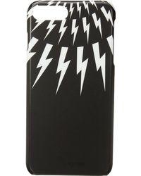 Neil Barrett - Thunderbolt Fair Isle Iphone 7 Plus Case (black/white) Cell Phone Case - Lyst